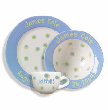 personalized ceramic plate personalized ceramic baby cup bowl plate set featured at
