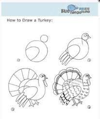 how to draw a turkey drawing tutorials for children