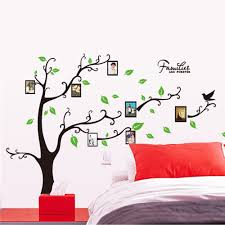 diy family tree room decor stickers wall photo frame wall decal