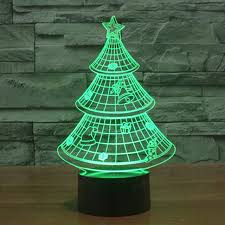 Color Changing Christmas Trees - aliexpress com buy 7 color changing 3d light christmas tree