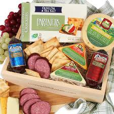 meat and cheese gift baskets gourmet meat cheese sler by gourmetgiftbaskets