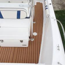 Vinyl Decking For Boats by 1250x17x0 5cm Long Brown Eva Foam Boat Flooring Faux Teak Decking
