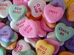 valentines day heart candy from saintly starts to candy hearts