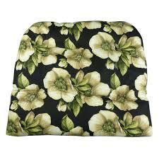 Poolside Seat Cushion Amazon Com Patio Chair Cushion Magnolia Floral Black Patio