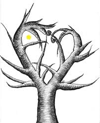 tim burton esque tree with a mini moon gt by