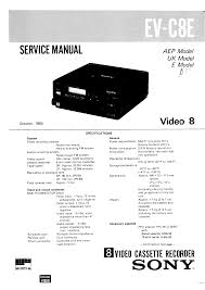sony evc8e service manual immediate download