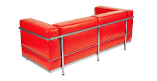 Red Loveseat Roche Loveseat Red Premium Leather Kardiel