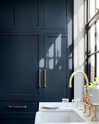 best blue paint color for kitchen cabinets the best non white kitchen cabinet paint colors from the