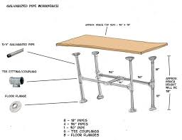 100 Diy Pipe Desk Plans Pipe Table Ideas And Inspiration by Best 25 Industrial Workbench Ideas On Pinterest Industrial