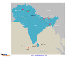 Kabul Map Free South Asia Editable Map Free Powerpoint Templates