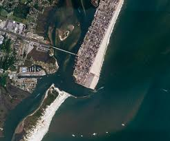 Ocean City Md Map Sediment In Motion At Ocean City Image Of The Day