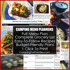3 fr cuisine 1 click to print easy 3 day oven cing meal plan printable