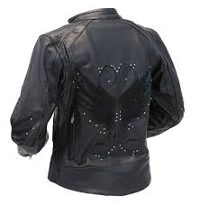 leather jacket for motorcycle riding women u0027s leather motorcycle jacket w wings l5200wk