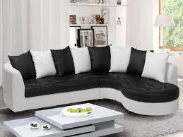 canape d angle arrondi canapé d angle droit en simili noir et blanc octave