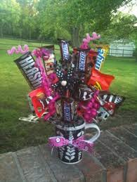 gift mugs with candy 21st birthday idea candy bouquet with mini bottles