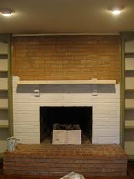 brick panels with well groomed brick paneling painted white of