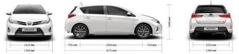 width of toyota yaris toyota auris dimensions uk exterior and interior sizes carwow