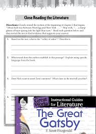 the great gatsby close reading and text dependent questions
