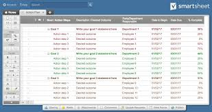 Goals And Objectives Template Excel Free Plan Templates Smartsheet