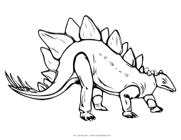 stegosaurus coloring pages dinosaurs pictures facts