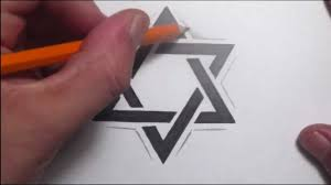 simple love 3d design drawing heart and banner tattoo design with