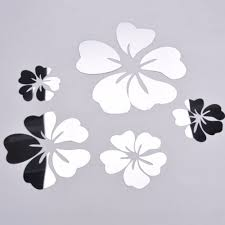 popular 3d floral wall stickers buy cheap 3d floral wall stickers hot mirror wall stickers 3d acrylic europe sticker home decor poster kitchen floral wall sticker