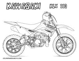 dirt bike coloring pages honda dirt bike coloring page free