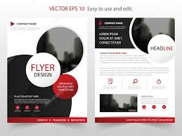 circle layout vector red circle annual report brochure design template vector business