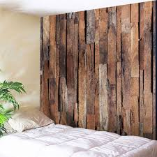 wood board wall 2018 wall hanging uneven wooden board print tapestry brown w