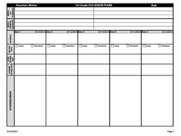 Weekly Lesson Plan Template Common by Custom Common Weekly Lesson Plan Template Landscape By