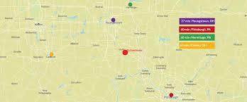 Dover Ohio Map by Firestone Farms