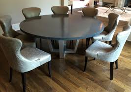 Round Pedestal Dining Room Table by Round Metal Dining Table Italian Oak And Scrolled Iron Round