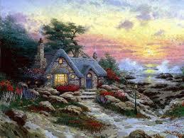 Thomas Kinkade Clocktower Cottage by 17 Best Thomas Kinkade Images On Pinterest Thomas Kinkade