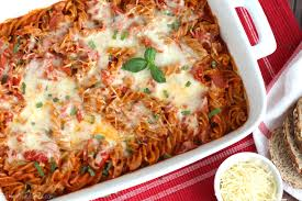 pasta bake recipes easy cheesy 5 ingredient pizza pasta bake two healthy kitchens