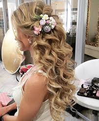 half updo long curly hairstyles for prom styles time