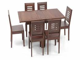 Folding Dining Chairs Danton Folding Wooden Dining Set With Table And Six Chairs Part