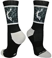 basketball socks half cushioned crew socks black