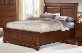cherry sleigh bed all american reflections eastern king sleigh storage bed in medium
