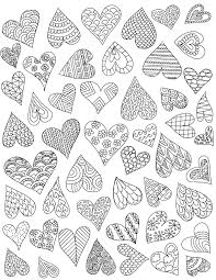 valentine u0027s day crafts doodle hearts coloring page and heart