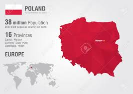 World Geography Map Poland World Map With A Pixel Diamond Texture World Geography