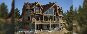 Log Home Plans Tahoe Log Cabin Home Plan