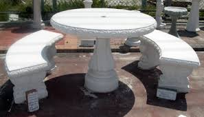 cement table and chairs table sets
