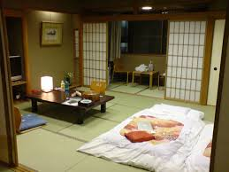 traditional japanese interiors with sliding door playuna