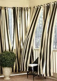 Black Outdoor Curtains Striped Outdoor Curtains From Ballard Designs Ballards