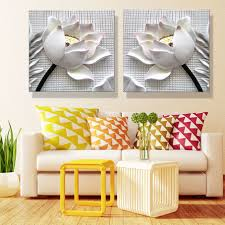 online buy wholesale interior oil painting from china interior oil modern pop art 3d 2piece canvas art modular picture posters and prints decoration home flowers oil