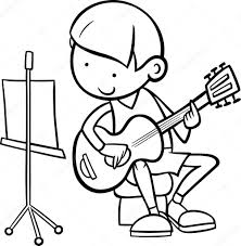johnny test coloring page guitar coloring pages best donald duck playing the guitar