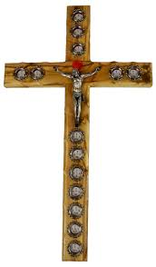 wood crucifix olive wood crucifix with stations relics the holy land gift shop