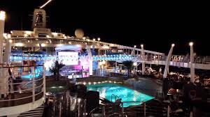msc 119 day cruise msc divina pooldeck by night youtube