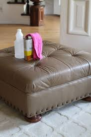 Leather Sofa Tufted by Furniture Tufted Ottoman Recolor Leather Sofa With Laminate Wood
