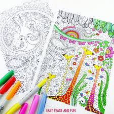 easy peasy coloring page birds and giraffes coloring pages for grown ups easy peasy and fun